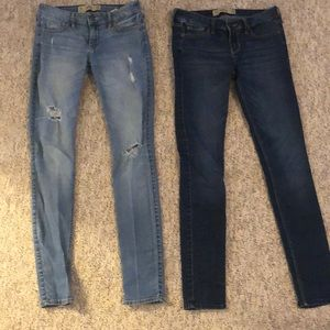 2 pair of Hollister jeans